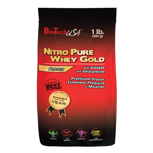 Bio Tech USA Nitro Pure Whey Gold 454g Banane