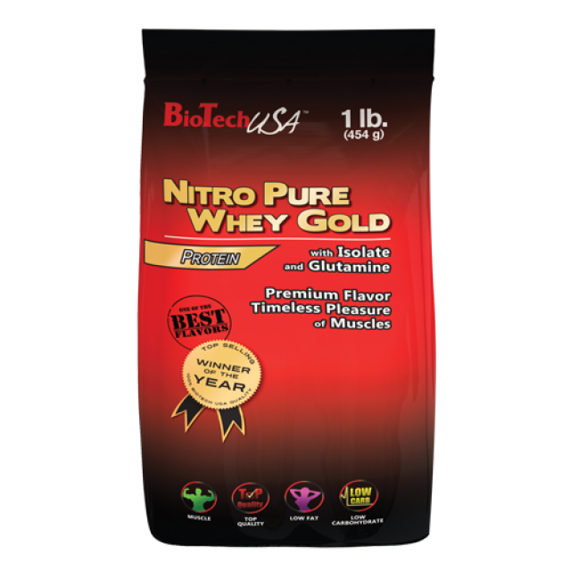 Bio Tech USA Nitro Pure Whey Gold 454g Melone